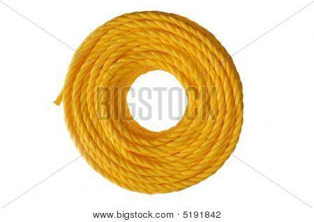 Coiled Yellow Rope