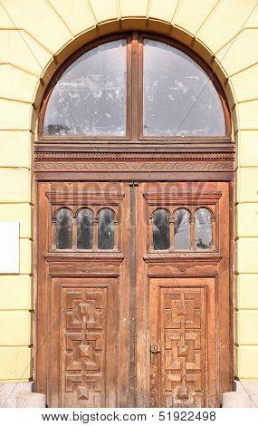 Wooden Door In Debrecen