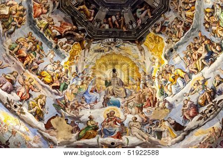 Fresco On Cupola Of Santa Maria Del Fiore, Florence, Italy