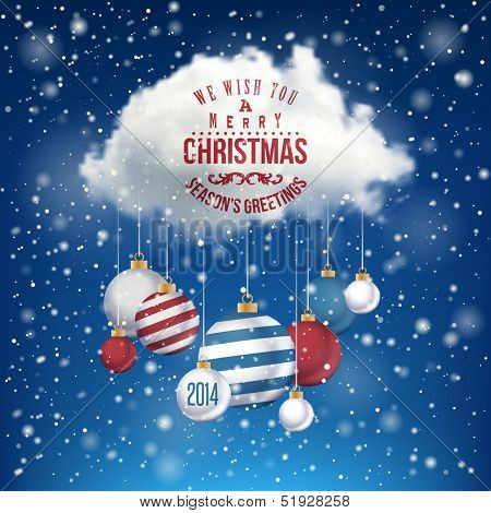 The Magic Christmas Cloud. Christmas background