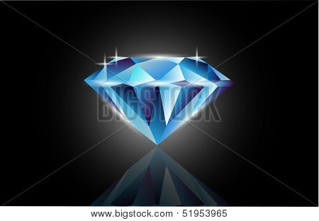 Vector Blue Diamond