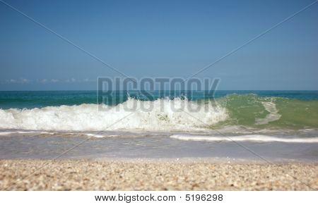 Swelling And Crashing Of Waves Bonita Beach