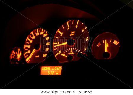 Lit Tachometer