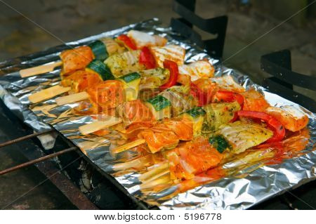 Fish On The Barbecue