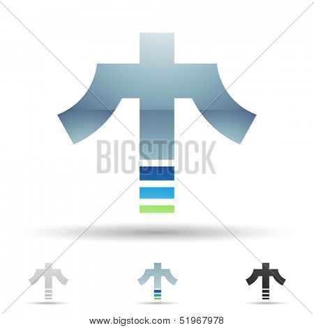 illustration of abstract icons based on the letter T