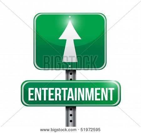 Entertainment Road Sign Illustration Design