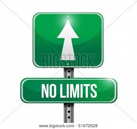 No Limits Road Sign Illustration Design