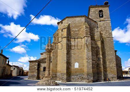 View of Church of Santa Maria Boadilla del Camino - Spain poster