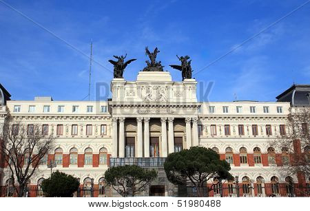 Ministry Of Agriculture Palace In Madrid, Spain
