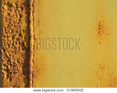 Rusty Yellow Orange Metal Surface Background