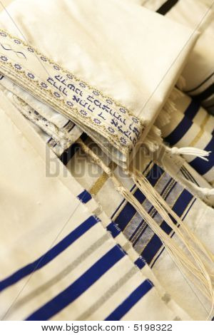Jewish Attire Detail From A Bat Mitzvah Service