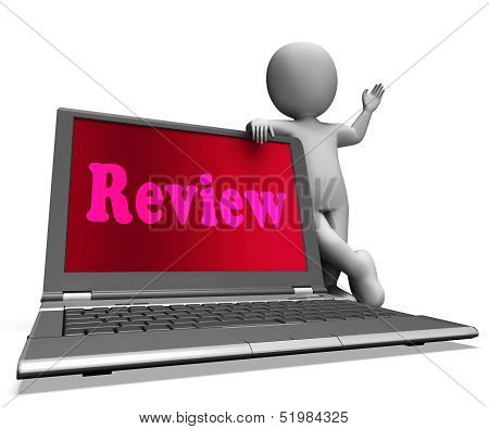Review Laptop Means Check Evaluation Or Reassess