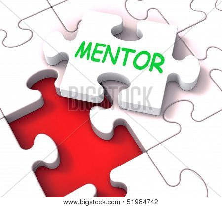 Mentor Puzzle Showing Advice Mentoring Mentorship And Mentors poster