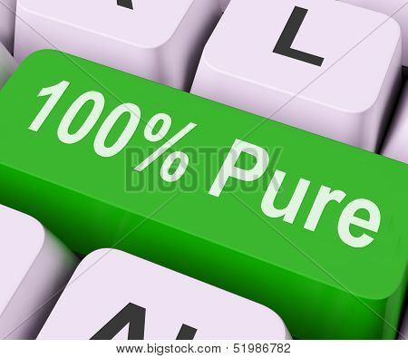 Hundred Percent Pure Key Means Absolute Uncorrupt.