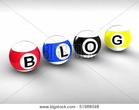 Blog Word Shows Weblog Blogging