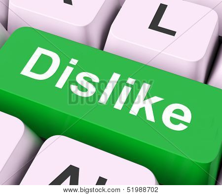 Dislike Key Means Hate Or Loathe.