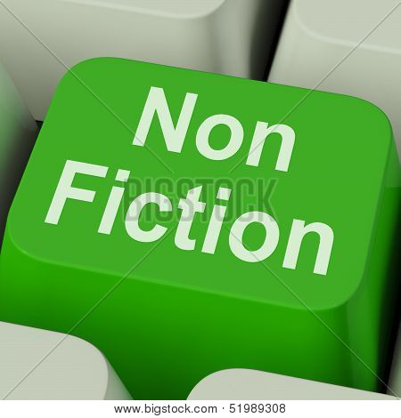 Non Fiction Key Shows Educational Material Or Text Books