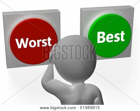 Worst Best Buttons Show Worse Or Better