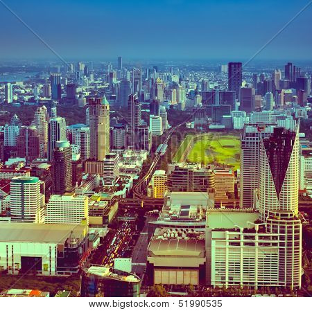 cityscape of bangkok poster