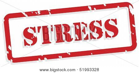 Stress Rubber Stamp