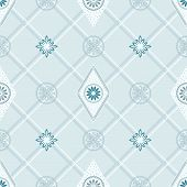 Seamless wallpaper in blue of vector layered. poster