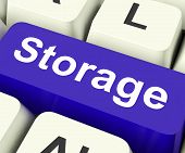 Storage Key On Keyboard Meaning Store Unit Or Storeroom poster