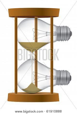 Bulb Light Sand Clock