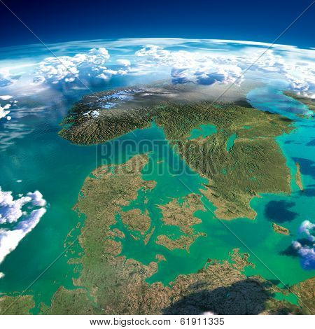 Fragments Of The Planet Earth. Denmark, Sweden And Norway