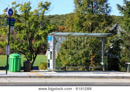 New York City bus stop.