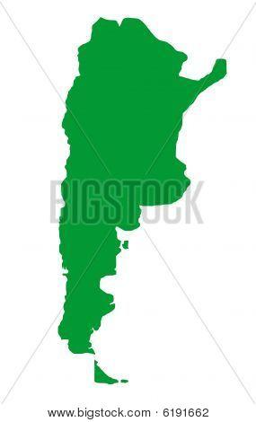 Argentina Map Outline