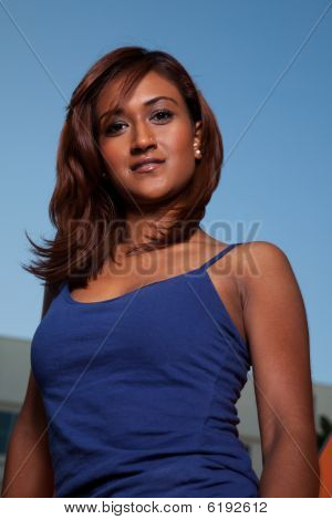 Attractive Friendly Twenties Indian Brunette Woman