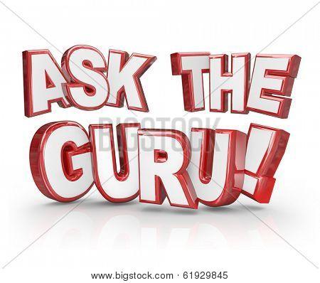 Ask the Guru 3D Words Advice Help Assistance Expert