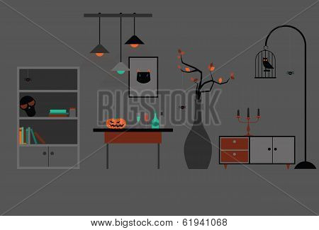 Halloween Room Decoration