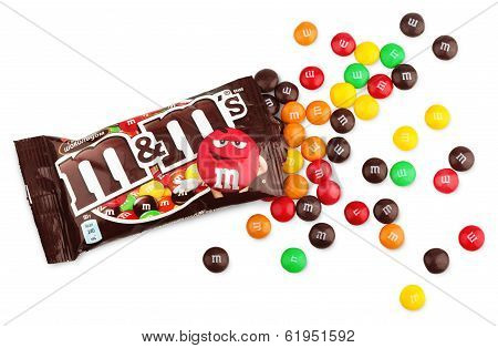 Unwrapped M&m's Milk Chocolate Candies