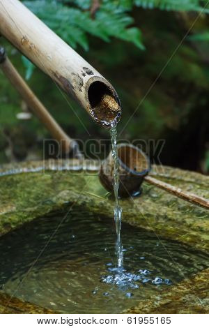 Bamboo Pipe With Water Dipper
