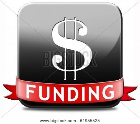 funding button fund raising for charity money donation for non profit organization