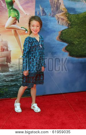 LOS ANGELES - MAR 22:  Aubrey Anderson-Emmons at the Pirate Fairy Movie Premiere at Walt Disney Studios Lot on March 22, 2014 in Burbank, CA