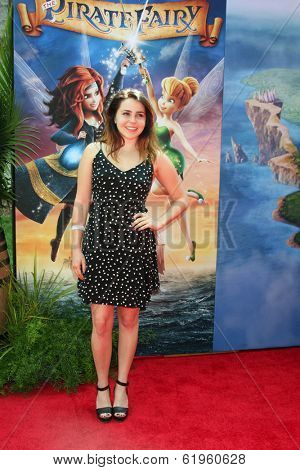 LOS ANGELES - MAR 22:  Mae Whitman at the Pirate Fairy Movie Premiere at Walt Disney Studios Lot on March 22, 2014 in Burbank, CA
