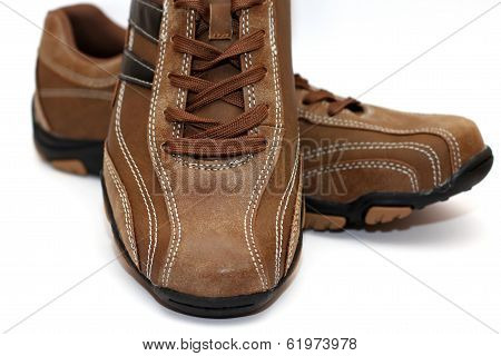 Macro scene with mans shoes