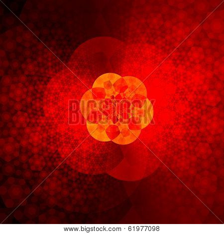 Beautiful Abstract Red Fractal