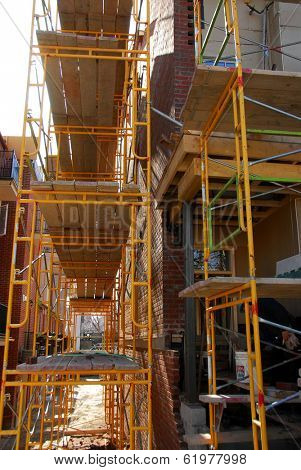 Scaffolding on a building under construction