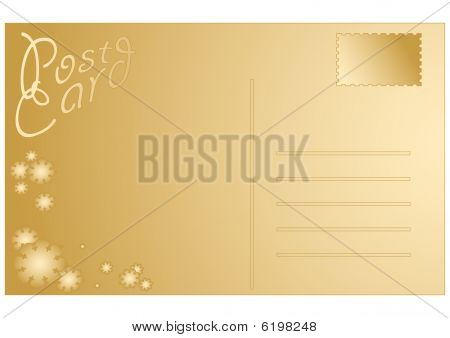 Blank Christmas postcard vector illustration
