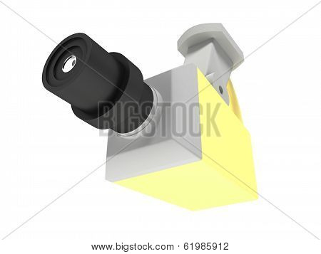 surveillance camera isolated on white