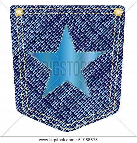 Star Denim Pocket