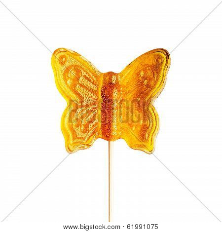 Sugar Butterfly On A Stick.