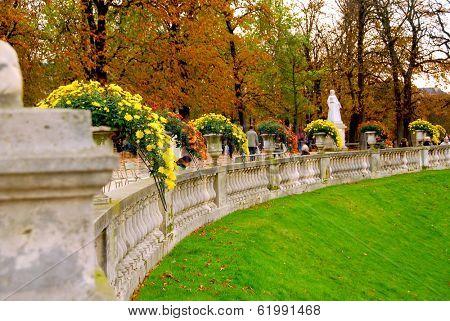 Jardins du Luxembourg (Luxembourg gardens) in Paris, France