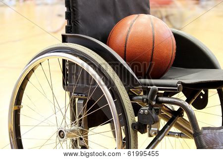 Basketball On A Wheelchair Basketball Game