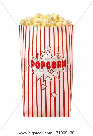 Popcorn Bag Isolated