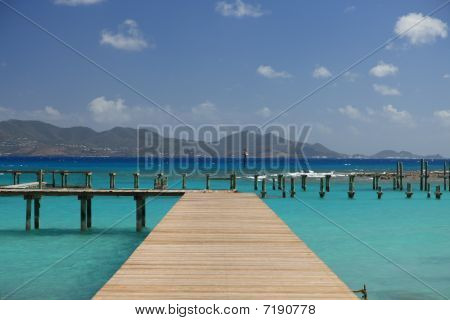 Jetty on tropical paradise