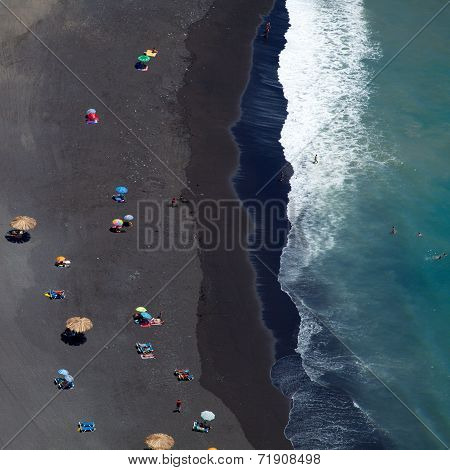Black Sand Beach Abstract